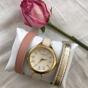 Francesca's Watch Set with 3 Changeable Bands